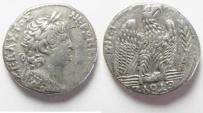 Ancient Coins - SYRIA, Seleucis and Pieria. Antioch. Nero. AD 54-68. AR TETRADRACHM. Sela Neronis