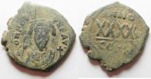 Ancient Coins - BYZANTINE: Phocas AE Follis, 602 - 610 AD