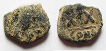 Ancient Coins - BYZANTINE. PHOCAS AE HALF FOLLIS