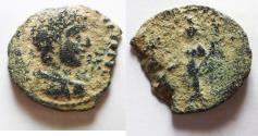Ancient Coins - ARABIA. CHARACHMOBA. ELAGABALUS , RARE AE 21