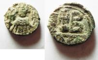 Ancient Coins - Constans II (AD 641-668). AE , 12 nummi. Alexandria mint