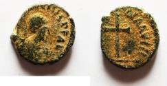 Ancient Coins - ROMAN AE 4 WITH CROSS