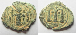 Ancient Coins - ARAB-BYZANTINE, AE FALS. Imitation of CONSTANS II.
