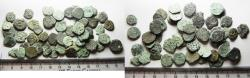 Ancient Coins - JUDAEA. LOT OF 50 BRONZE PRUTAH COINS. MIXED