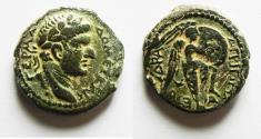 Ancient Coins - CHOICE EXAMPLE:  JUDAEA, Herodians. Agrippa II UNDER DOMITIAN AE 18