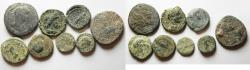 Ancient Coins - LOT OF 8 PROVINCIALS AE COINS FROM THE HOLY LAND AS FOUND
