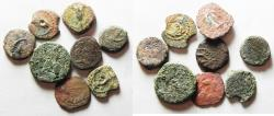 Ancient Coins - AS FOUND. JUDAEA.. LOT OF 8 AE PRUTOT