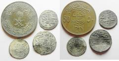 World Coins - LOT OF 3 OTTOMAN COINS & 1 SAUDI ARABIAN.  SILVER