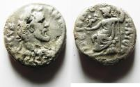 Ancient Coins - EGYPT. ALEXANDRIA. ANTONINUS PIUS BILLON TETRADRACHM
