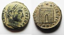 Ancient Coins - AS FOUND: CONSTANTINE I AE 3 . DESERT PATINA.