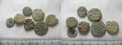Ancient Coins - LOT OF 7 ANCIENT BRONZE ISLAMIC COINS