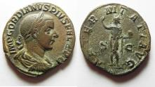 Ancient Coins - ATTRACTIVE: Gordian III Æ Sestertius