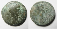 Ancient Coins - EGYPT. ALEXANDRIA UNDER AUGUSTUS (27 BC-AD 14). AE DIOBOL . STRUCK IN REGNAL YEAR 42 (AD 11/12).