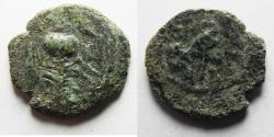 Ancient Coins - AS FOUND: Judaea, The Herodians. Herod Archelaus, 4 BC-6 AD. AE Double Prutot.