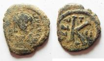 Ancient Coins - BYZANTINE. AE HALF FOLLIS.