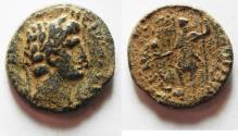 Ancient Coins - Judaea. Caesarea Maritima under Nero (AD 54-68). AE 22mm, 6.65g. Struck in regnal year 14 (AD 68).