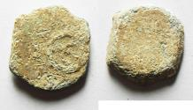 Ancient Coins - Judaea, Alexander Jannaeaus, 103-76 BC, Lead Prutah.