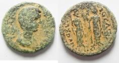 Ancient Coins - Decapolis. Nysa-Scythopolis under Julia Domna (AD 196-211). AE 23mm, 8.55g. Struck in civic year 270 (AD 206/7).