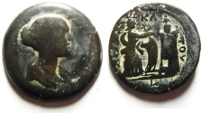 Ancient Coins - Egypt. Alexandria under Antoninus Pius (AD 138-161). AE drachm (33mm, 19.43g). Struck in regnal year 12 (AD 148/9).