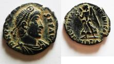 Ancient Coins - BEAUTIFUL WITH ORIGINAL DESERT PATINA. VALENS AE 3
