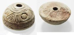 Ancient Coins - ANCIENT SASSANIAN STONE SPINDLE WHORL. 400 - 500 A.D