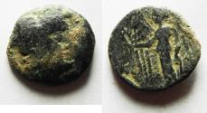 Ancient Coins - NABATAEAN KINGDOM. ARETAS II/III AE 18. 103-96 BC.