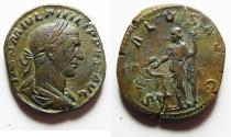 Ancient Coins - HIGH QUALITY: Philip I. A.D. 244-249. Æ sestertius. Rome