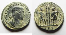 Ancient Coins - CONSTANTINE II AE FOLLIS. AS FOUND