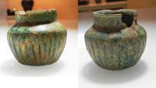 Ancient Coins - ANCIENT PARTHIAN. 247 B.C- 224 A.D. GLAZED TERRACOTTA VESSEL
