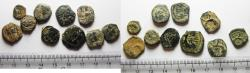 Ancient Coins - ORIGINAL DESERT PATINA. LOT OF 10 NABATAEAN AE COINS