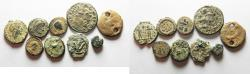 Ancient Coins - LOT OF 9 ANCIENT AE COINS. AS FOUND