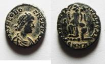 Ancient Coins - NICE THEODOSIUS I AE 4