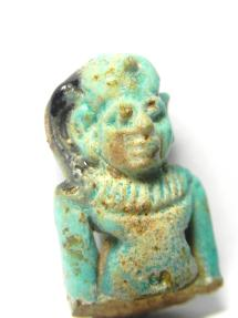Ancient Coins - ANCIENT EGYPT , 600 - 300 B.C , BEAUTIFULL UPPER HALF OF FAIENCE AMULET - Harpocrates
