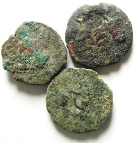 Ancient Coins - JUDAEAN , LOT OF 3 AS FOUND PRUTOT