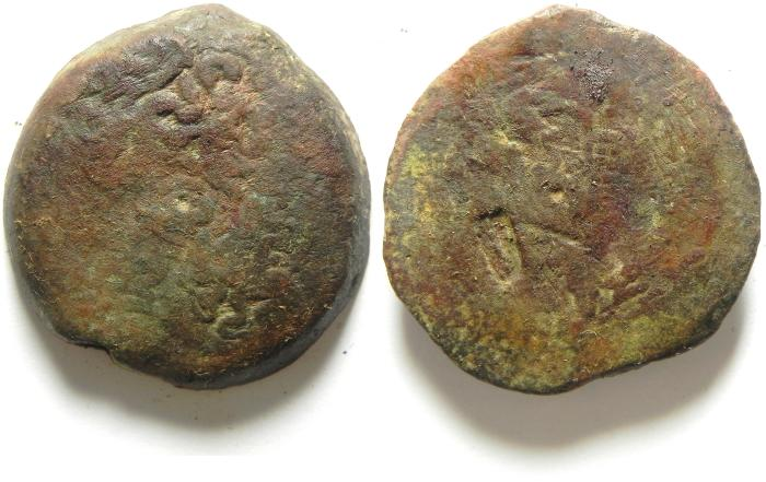 Ancient Coins - PTOLEMAIC KINGDOM , PTOLEMY IV AE 35 , 40.79 GM , COUNTERMARKED