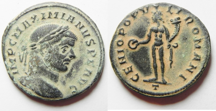 Ancient Coins - Maximianus. A.D. 286-305. Æ follis. Trier