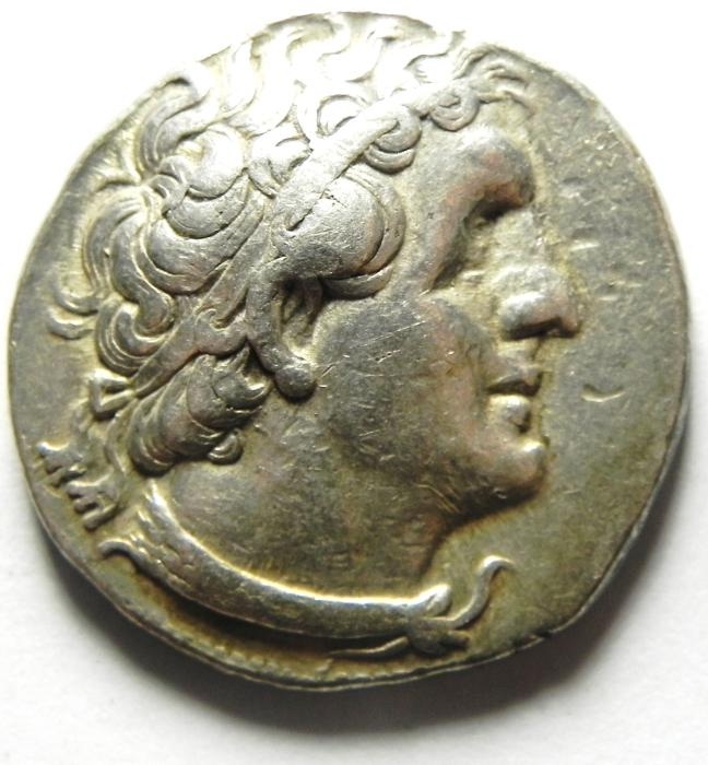Ancient Coins - Ptolemaic Kingdom. Ptolemy II Philadelphos. 285-246 BC. AR Tetradrachm , Ake - Ptolemais (akko) mint , VERY NICE SURFACE , CLEAR AND ATTRACTIVE!!