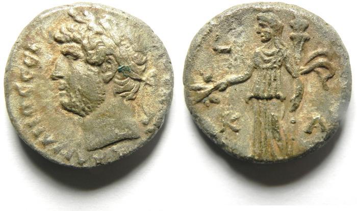 Ancient Coins -  EGYPT , ALEXANDRIA , HADRIAN BILLON TETRADRACHM CHOICE VF CONDITION
