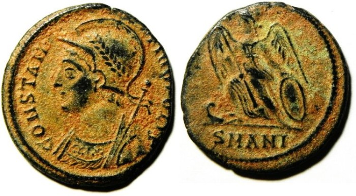 Ancient Coins - CONSTANTINE I AE COMMEMORATIVE AE 3 , VERY NICE, AS FOUND