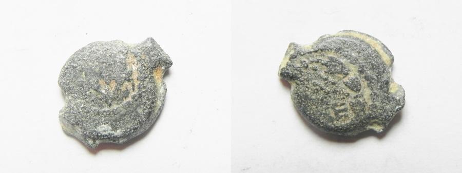 Ancient Coins - JUDAEA , Mattathias Antigonus AE Prutah