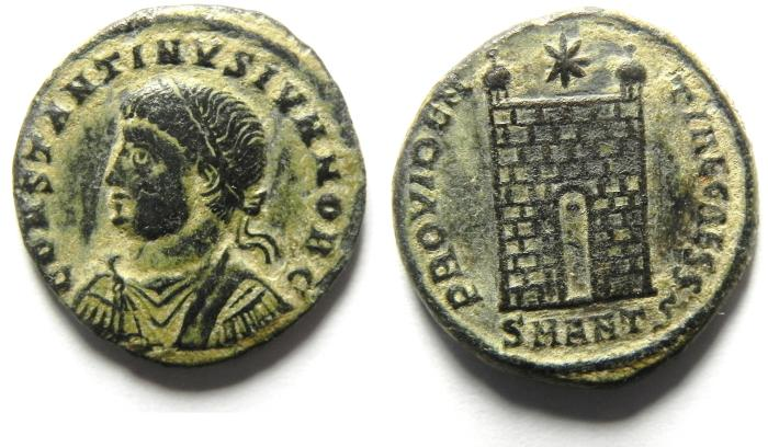 Ancient Coins - BEAUTIFULL CONSTANTINE II AE 3 , CAMP GATE , ANTIOCH