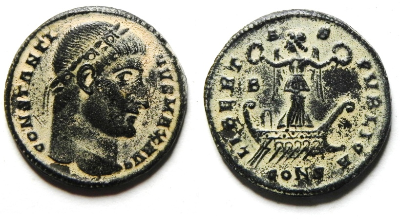 Ancient Coins - CONSTANTINE I THE GREAT AE 3  , SCARCE - CONSTANTINOPLE
