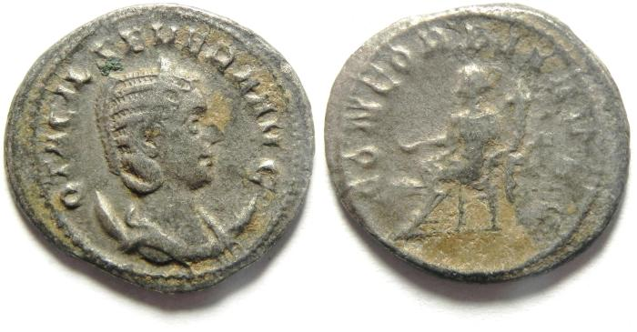 Ancient Coins - Otacilia Severa AR antoninianus. Rome, 244-249 AD, HEAVY 4.47GM