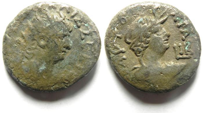 Ancient Coins - ALEXANDRIA , EGYPT , NERO , BILLON TETRADRACHM , ALEXANDRIA BUST