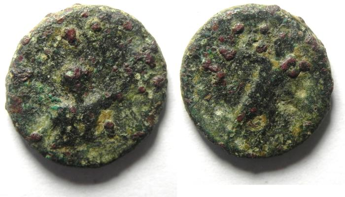 Ancient Coins - Syria, Seleukis and Pieria. Leukas-Claudia (Balanea). First-second century AD, AE 17 , AS FOUND!