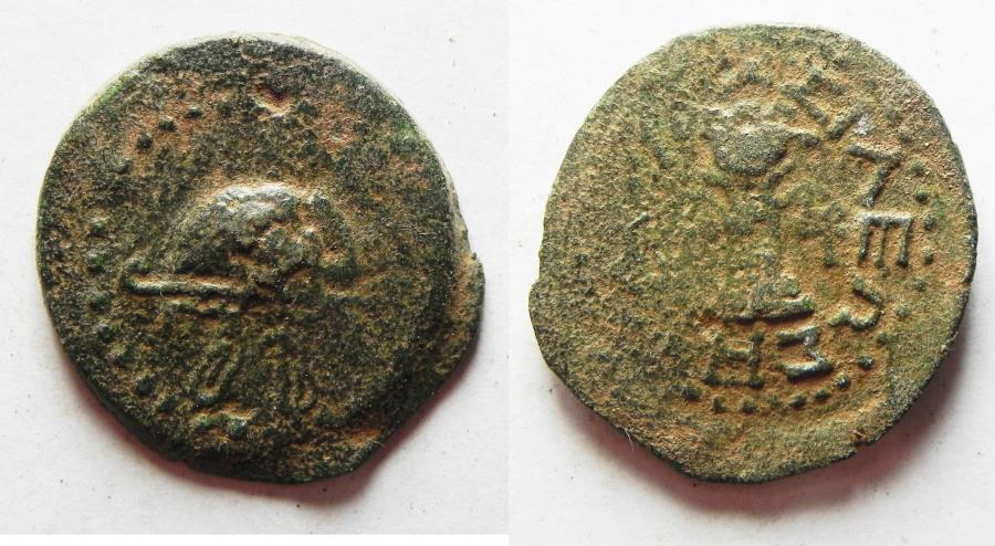 Ancient Coins - JUDAEA. HEROD I THE GREAT AE 8 PRUTAH COIN