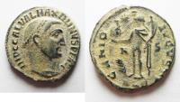 Ancient Coins - MAXIMINUS II AE FOLLIS. ALEXANDRIA. NICE AS FOUND. DESERT PATINA