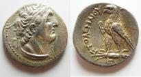 Ancient Coins - Egypt. Ptolemaic kings. Ptolemy VI Philometor (first sole reign, 180-170 BC). AR tetradrachm (26mm, 14.24g) Uncertain Cypriote or Phoenician mint.