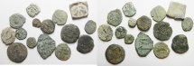Ancient Coins - LOT OF 15 ANCIENT COINS , MOSTLY JUDAEAN
