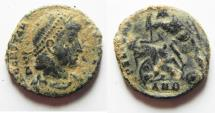 Ancient Coins - CONSTANTIUS II AE CENT. AS FOUND. ANTIOCH MINT